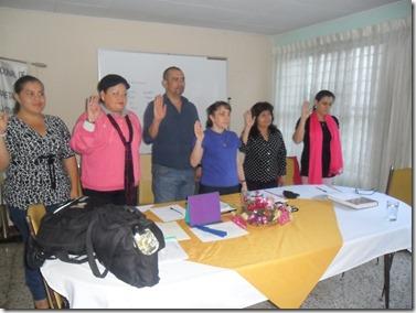 Juramentación Nueva Junta Directva recién elegida